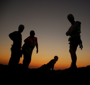 Mountain Rescue Absail Training